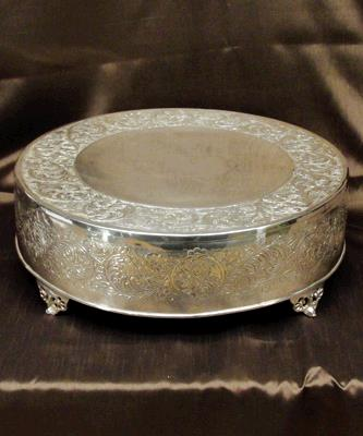 Where to find CAKE STAND SILVER 22  RND in Tacoma