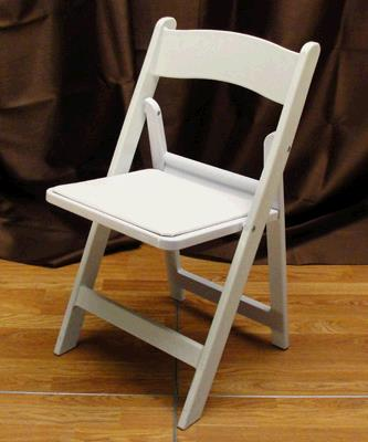 Where to find CHAIR WHITE RESIN PADDED in Tacoma