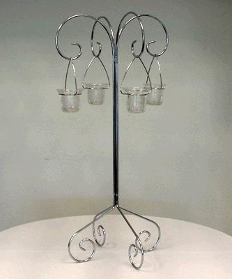 Where to find CANDELABRA WILLOW TABLETOP 4LITE NICKEL in Tacoma