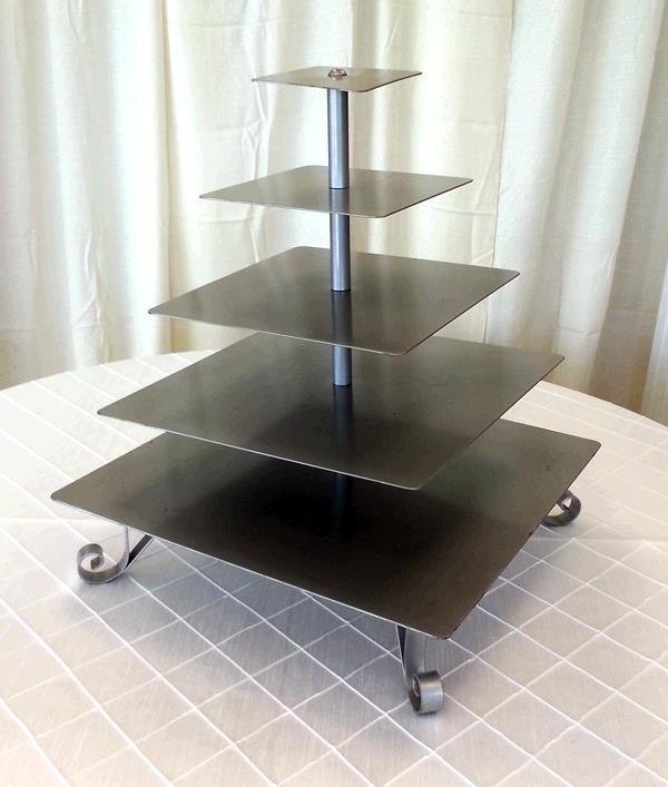 Where to find CUPCAKE STAND SQUARE 5 TIER W LEGS in Tacoma