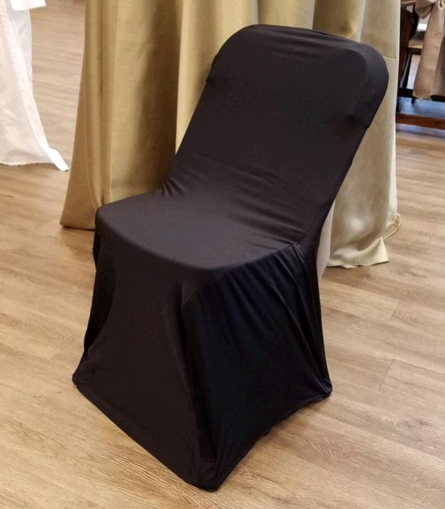 Where to find CHAIR COVER SPANDEX BLACK in Tacoma