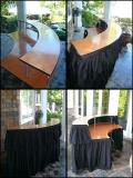 Rental store for BAR TIERED TABLE W SKIRT SERPENTINE 7 in Tacoma WA