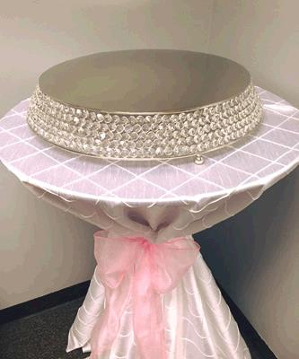 Where to find CAKE STAND CRYSTAL 20  ROUND ANGLED in Tacoma