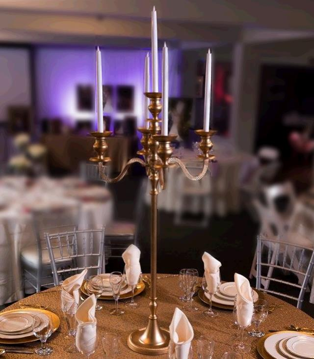 Where to find CANDELABRA 40  GOLD TABLETOP in Tacoma