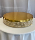 Rental store for CAKE STAND GOLD CRYSTAL 20  ROUND in Tacoma WA
