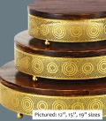 Rental store for CAKE STAND GOLD WOOD 16  RND in Tacoma WA