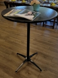Rental store for EVOLUTION 30  BLACK BISTRO TABLE in Tacoma WA